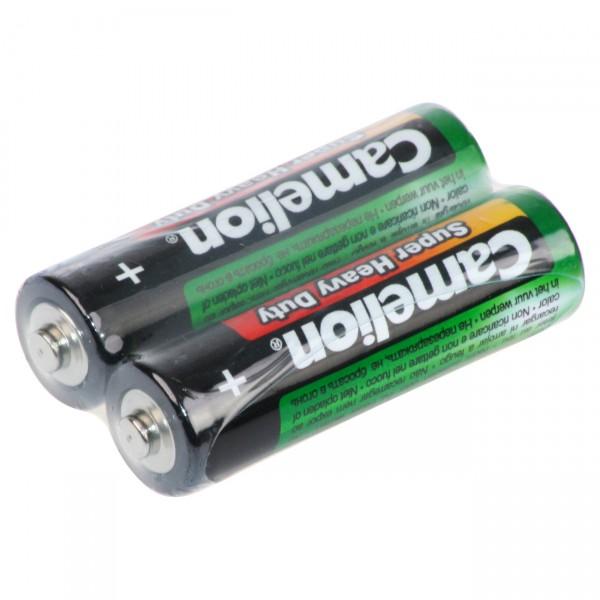 Camelion R06 Zink-Kohle Mignon Batterie 2er Folie