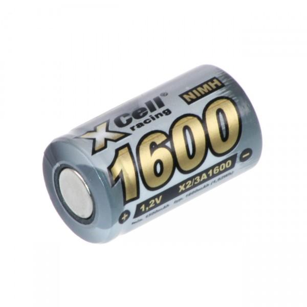 XCell Akku 2/3 A - X2/3A1600 - 1,2V / 1600mAh - 1,2 Volt 2/3Mignon